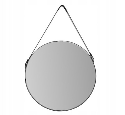 Круглые зеркало В СТРОКЕ Рама черные 60 СМ чердак