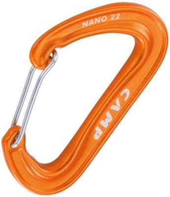Karabinek CAMP NANO 22 Orange Pomarańczowy Alu