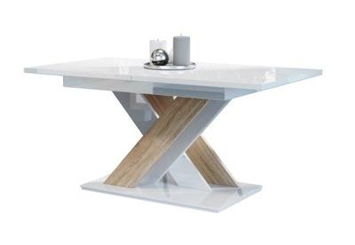 стол раскладной 140-180 Белый блеск сонома +