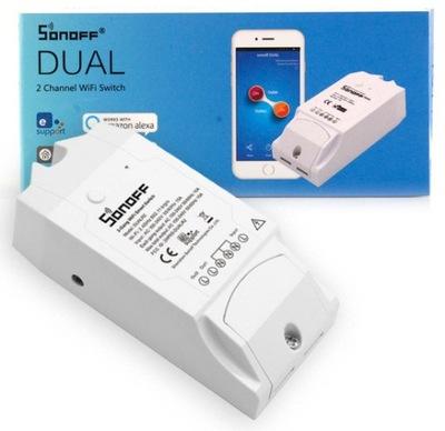 Sonoff Dual переключатель Wi-fi 2 каналы схема