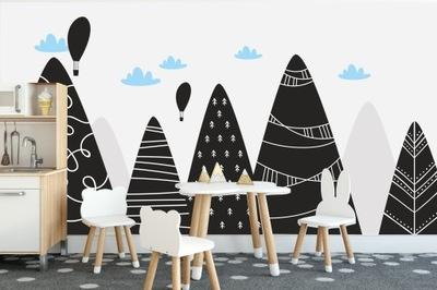 Фотообои 3d для детей облака горы скандинавский