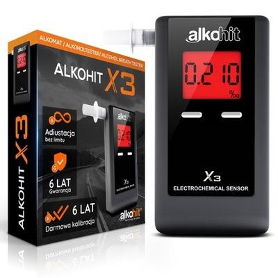 Alkomat ALKOHIT X3 Elektrochemiczny Kalibracje