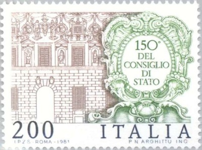 Италия 1981 Марку Мне 1769 ** Государственный Совет