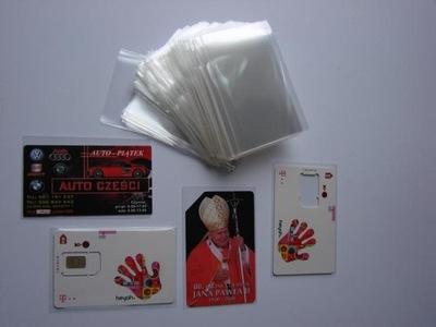 Кармашка защитные 250? на карты,визитки 58x 90