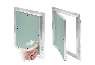 Dvere revízia GK 60x60 hliník AIRV SKRUTKY