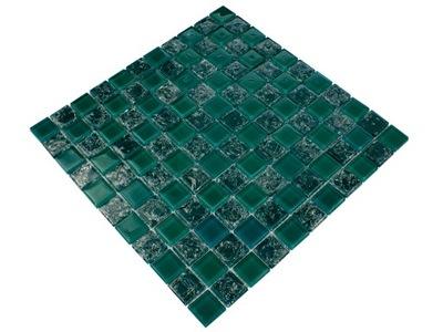 Мозаика стеклянная бутылку Зелень микс ICE GREEN