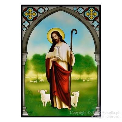Иисус Христос ??? Добрый Пастырь - витраж на окно