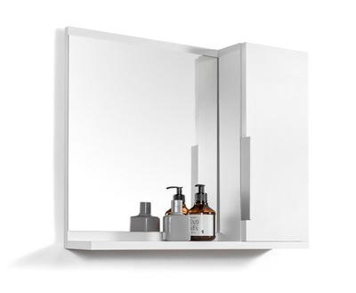 белая шкаф ? зеркалом шкаф для ванны с полками
