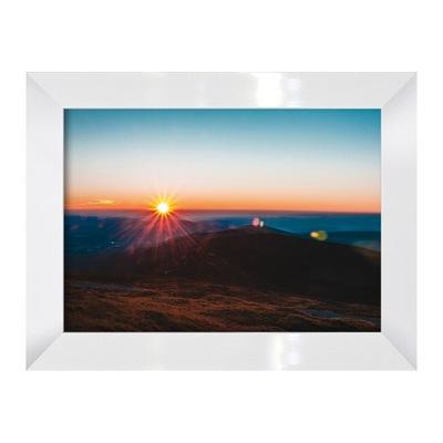 Фото-изображение Гористая Пейзаж с пути и солнце Рама