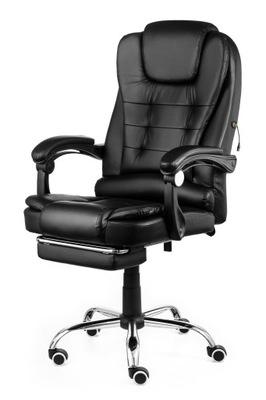 Кресло офисный Elgo массаж ног Поворотный Черный