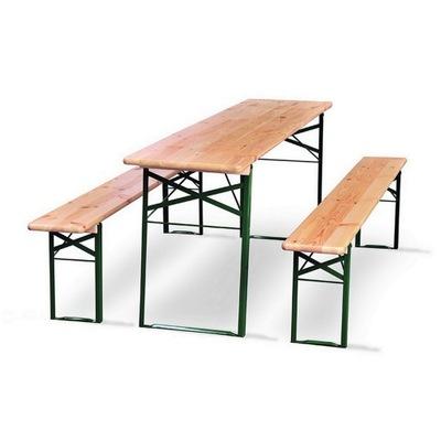 Nastaviť príjemný záhradke, 1x stôl, 2x lavica