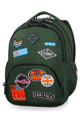 batoh originálny Coolpack škvrny, školy odznaky
