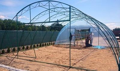 Туннель фолиевой садовый конструкция  7x3x30