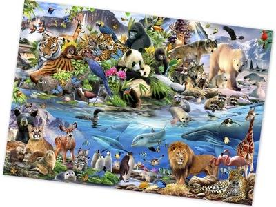 Nástenné maľby ZVIERAT SVETA 208x146 FLIZELINA