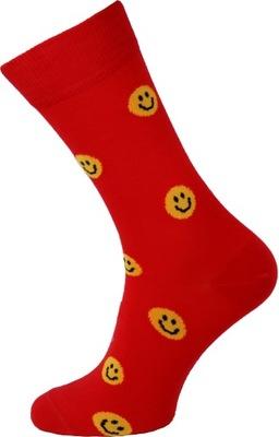 Kolorowe Skarpetki Crazy Socks Uśmieszek 44-47
