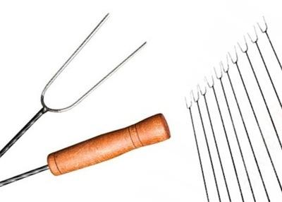Палки для костра колбасу вилки вилка Сто пятьдесят 10шт