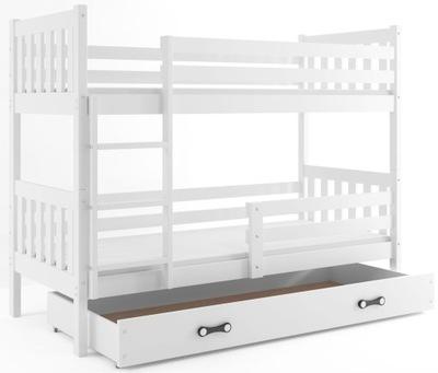 łóżko Piętrowe Jacek 190x80 Dla Dzieci Szuflada