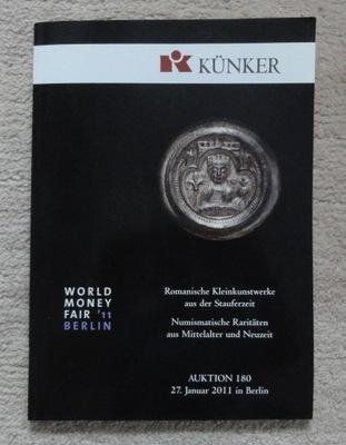Каталог аукциона № 180 фирмы Künker