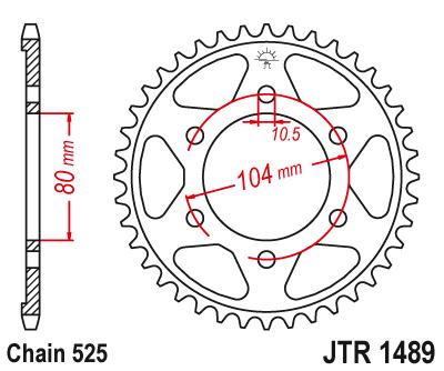 ЗУБЧАТКА ЗАДНЯЯ JT 40Z 525 KAWASAKI ZZ-R600/ZX-6R