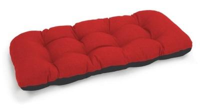 подушка на скамейку садовую качели 100х50 красн