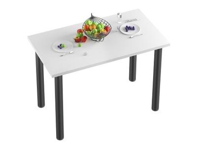стол СТОЛ Кухня -70x40x18-Белый НОГИ черные