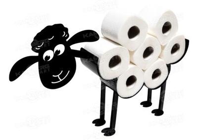 Owca Baran Stojak Wieszak D na papier toaletowy