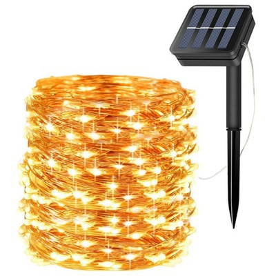 200 Led 20 M Lampki Solarne Ogrodowe Żarówka Lampa