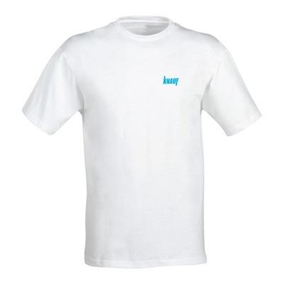 T-Shirt, koszulka KNAUF M , biała, bawełna