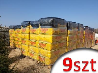 9x Rašelina je Kyslé HEATH 250L prepravné palety borowka
