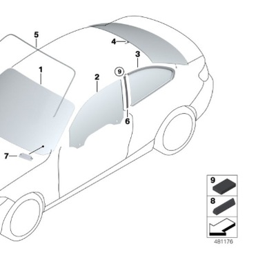 СТЕКЛО ЗАДНЯЯ ЗАДНЕЕ BMW 2 F22