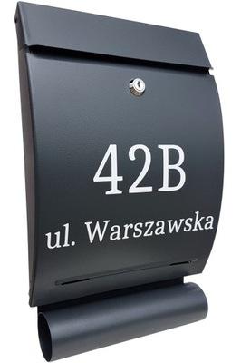 коробка письма ЯЩИК + НОМЕР ДОМА, НАДПИСЬ