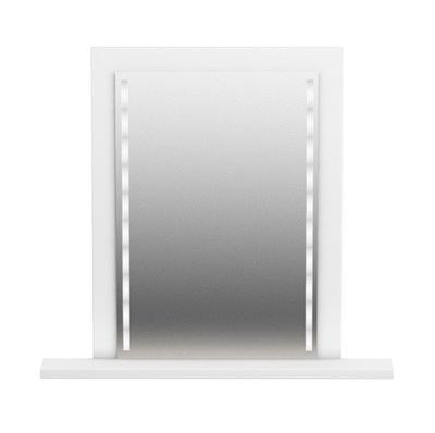 зеркало С LEDEM для МАКИЯЖА ВИЗАЖА белое С ПОЛКОЙ