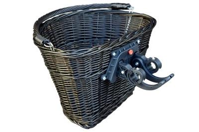prútený Košík na BICYKEL klipy Koleso Kôš WENGE