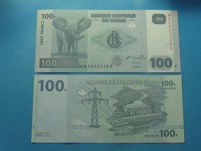 Конго Банкнота 100 Francs 2007 UNC P-98а