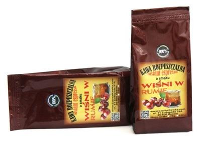 кофе растворимый со вкусом вишни в роме