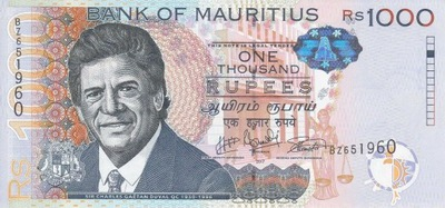 MAURITIUS 1000 Rupees 2017 P-63 UNC