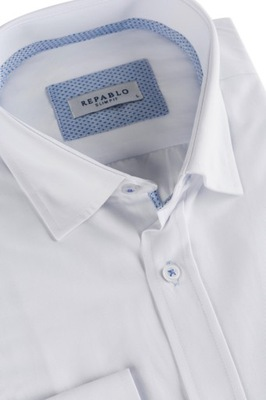 Modna biała koszula męska ze stójką XL 7711448065 Allegro.pl