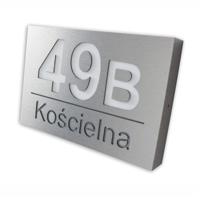 Podsvietený číslo domu LED INOX KML 30x20