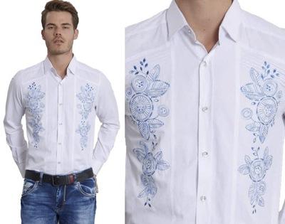 Koszula Męska Wieczorowa Elegancka Haft Mondo