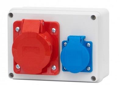 Распределительное устройство комплект Веса Гнездо 16A 5P + 230