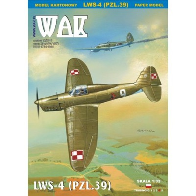 ОАК 12 /16 - истребитель LWS-4 (PZL.39 ) 1 :33