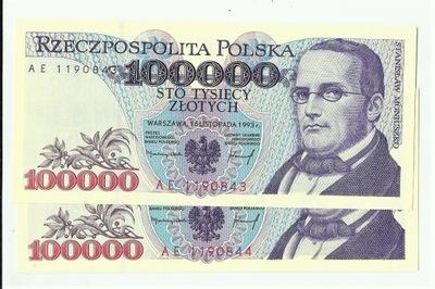 100000 российский рубль 1993 ??? AE Instagram UNC ,E -kriss