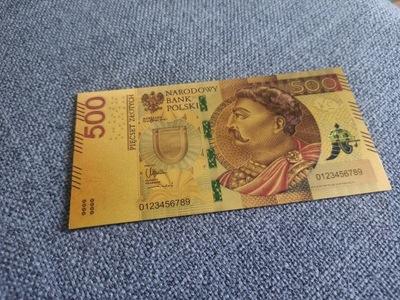 $ 500 КОЛЛЕКЦИОНЕРА банкнота единственный такой позолоченный