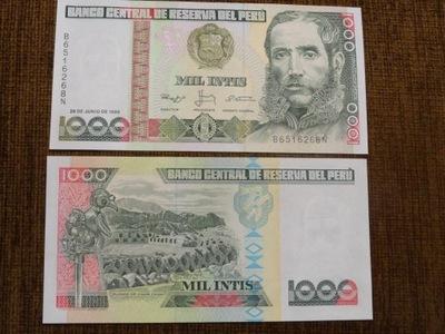 597.PERU 1000 INTIS UNC