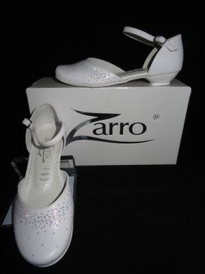 Śnieżnobiałe buty komunijne ZARRO 2322 r.34