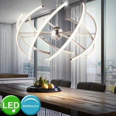 Lampa wisząca sufitowa LED żyrandol kula srebrna
