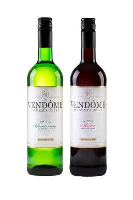 Vendome 2x вино безалкогольные напитки - белое красное