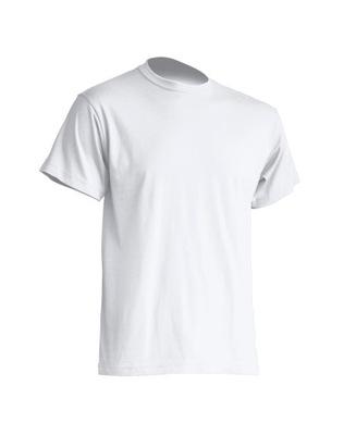Biała koszulka T-shirt męski podkoszulka S JHK