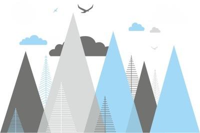 Fototapeta Škandinávske hory 125cm