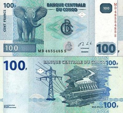 # КОНГО - 100 ФРАНКОВ - 2013 - P98 - UNC